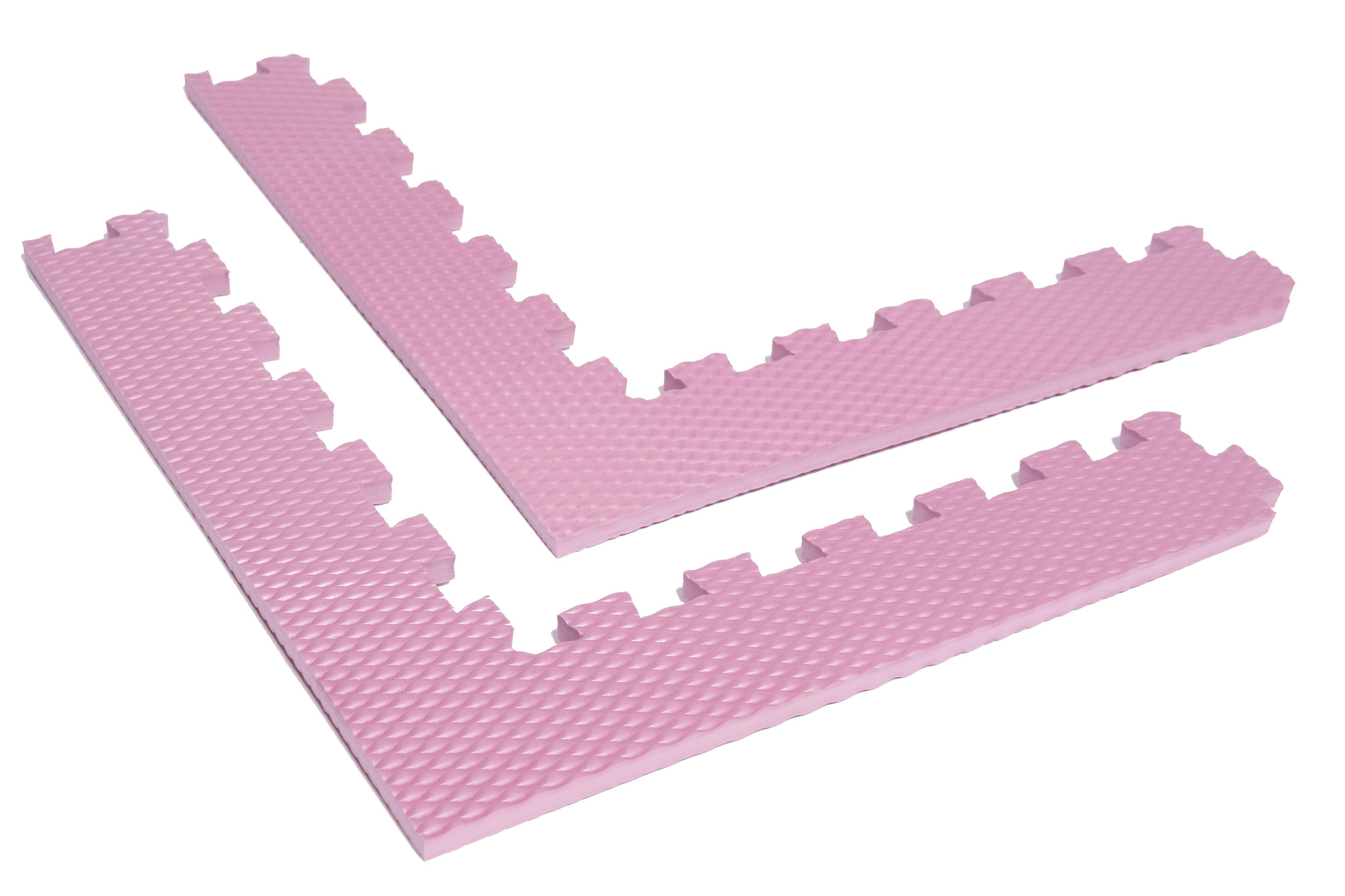 rohový okrajový díl růžová